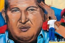 PINTADAS CON EL ROSTRO DEL PRESIDENTE HUGO CHÁVEZ EN CARACAS