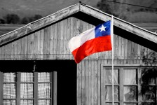 la bandera chilena.